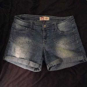 Low-Rise Denim Shorts